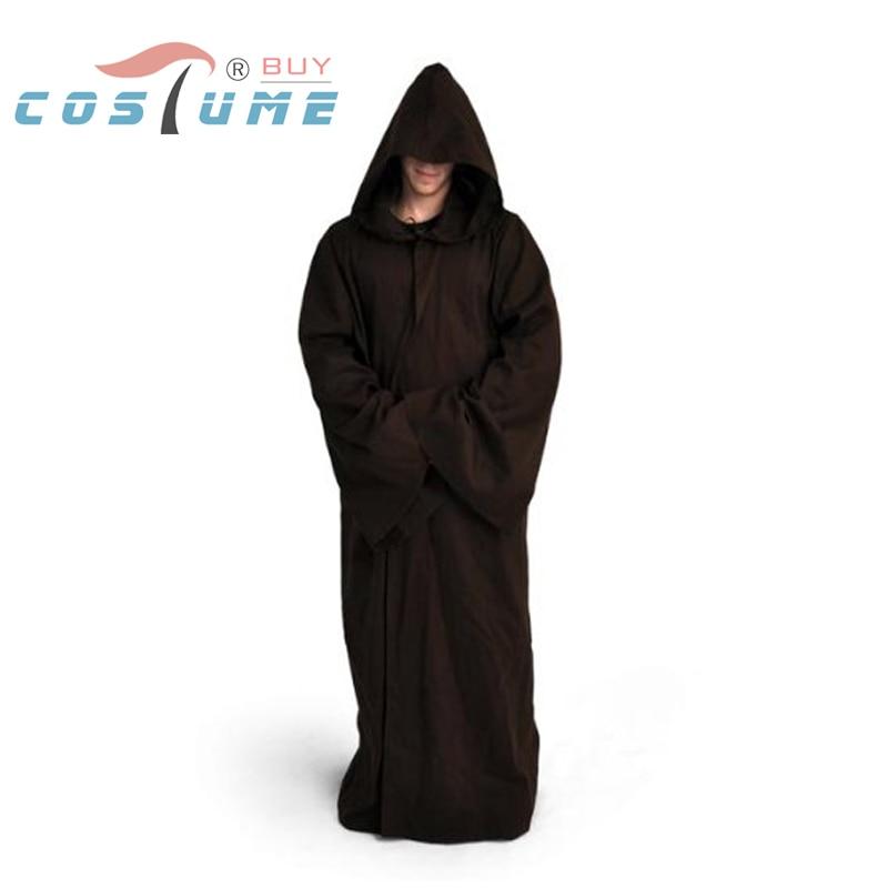 Star Wars Cosplay Kostym Kenobi Darth Vader Robe Jedi TUNIC Män Hooded Robe Cloak Outfit Movie Cosplay Kostym