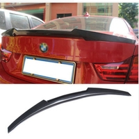 For BMW F32 Carbon Spoiler 4 Series 420i 428i 430i 2 Door Coupe F32 Carbon Fiber Rear Trunk Spoiler M4 Style 2014 2015 2016 UP