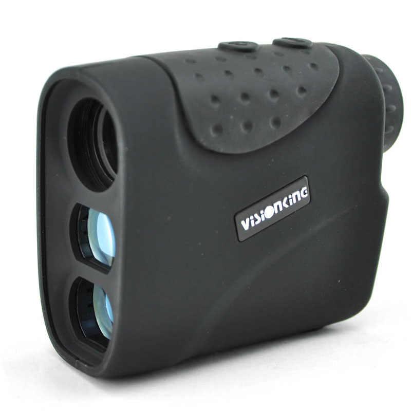 جهاز كشف مدى الليزر المحمول Visionking 6x21 للصيد/لعبة غولف أحادي العين 1200 متر مقياس المسافة مقاوم للمطر جهاز كشف المدى باللون الأسود