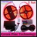 1 Unidades SMD 5050 60 LED/M 10 Metros RGB LED tira de cinta Linterna iluminación IP65 tira Impermeable + 44 clave Remoto + 6A fuente de Alimentación adaptador