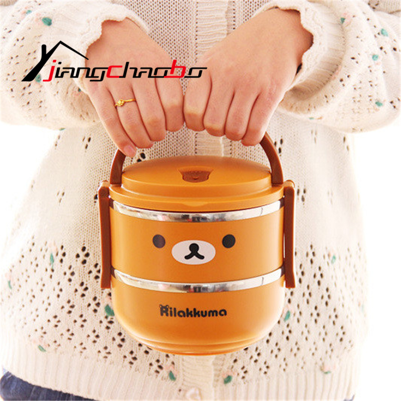 single layer stainless steel thermos bento lunch box food box insulated lunchbox thermal food. Black Bedroom Furniture Sets. Home Design Ideas