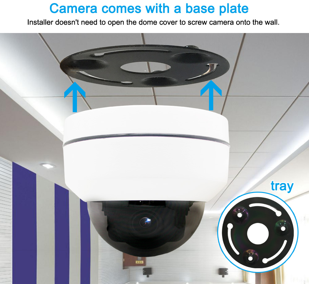 19201080 2MP WiFi PTZ Camera 4XZoom Auto High Resolution Waterproof Wireless Infrared 1080P IP Dome Camera CamHi APP Indoor 5
