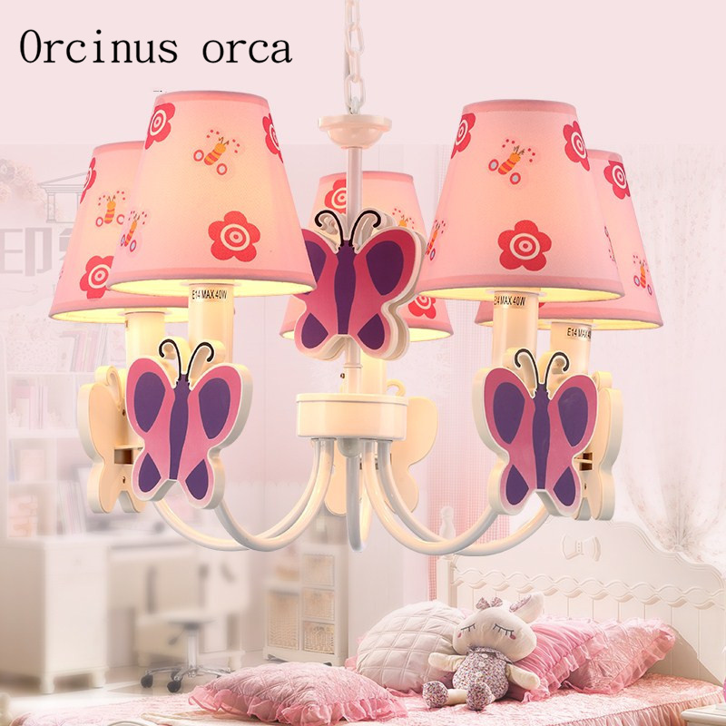 Lovely cartoon children room led pendant lamp girl bedroom Princess room lamp personality originality butterfly pendant lamp|room led lamp|lamp girl|lamp lamp - title=
