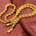 Rope Chain link  24ct Yellow Gold Filled Twisted Womens Mens Necklace Chain Gift