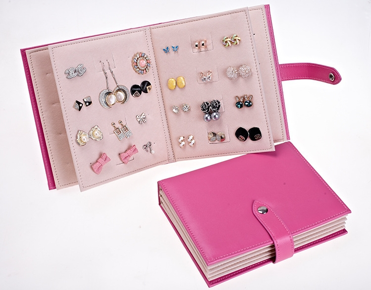 Fashion Jewelry Holder Earring Storage Book Portable Bag Travel Organizer Showcase Accessories