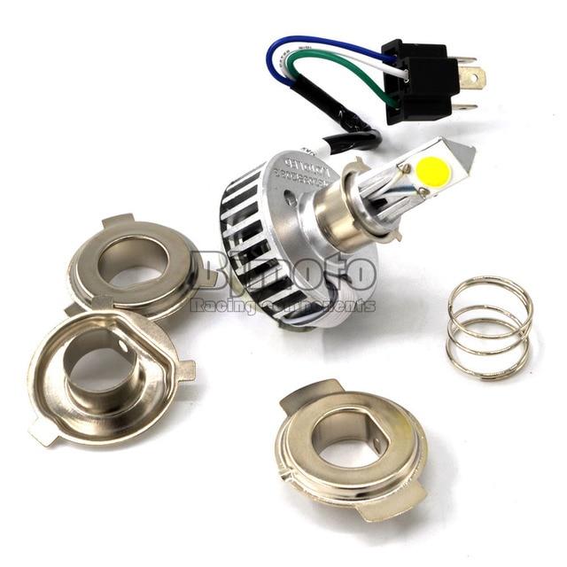 2000LM 24W LED H4 Motorcycle Headlight Bulb 6500K Hi Lo Beam Head Lamp 9-36V H4 H4-3 HB2 9003 Motorbike Front light Bulb
