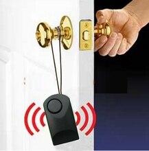 נייד דלת חיישן אזעקת דלת אזעקת ידית דלת ידית מגע הופעל 120dB נגד גניבה להפחיד מלון נסיעות בטיחות סירנה