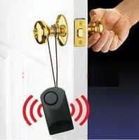 Alarme portátil do toque do punho da porta do alarme do punho da porta do alarme 120 db anti-roubo que assusta a segurança da porta sirene da segurança do hotel