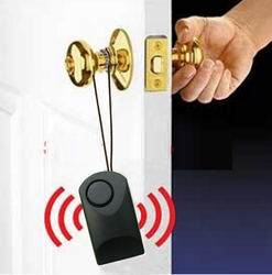 Portátil alarme sensor da porta maçaneta da porta maçaneta da porta toque de alarme 120 dB alarme anti-roubo assustando de segurança da porta do hotel sirene de segurança