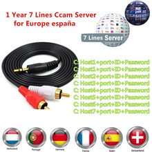 cccam cline for 1 year europe Spain Portugal Germany Poland Italy NewCAMD CCCAM MGCAM for DVB S2 receptor satellite tv receiver