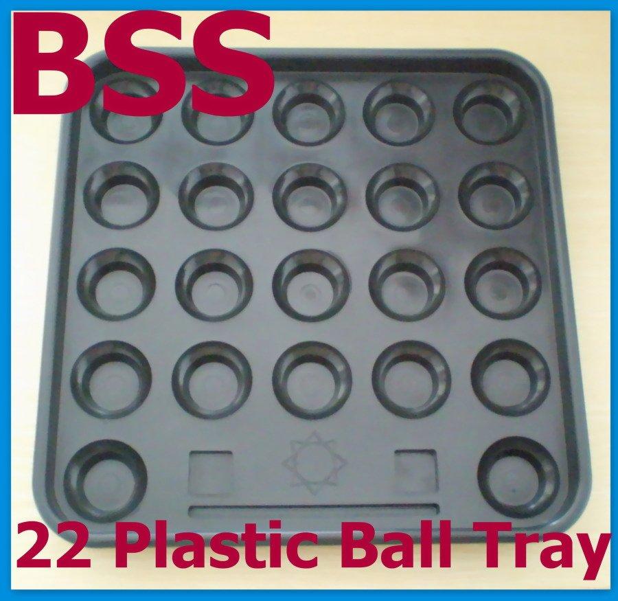 Free Shipping 1set/lot Black Plastic Pool 22 Ball Tray Billiards Snooker Table Storage NEW