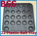 Freies Verschiffen 1 satz/los schwarz Kunststoff Pool 22 Ball Tablett billard snooker Lagerung NEUE-in Möbelzubehör aus Möbel bei