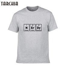d6403db2b67 TARCHIA Men S Tops Tees 2018 Summer NERDY Print Cotton 0-Neck Short Sleeve T  Shirt Men Fashion Male Tops Casual T Shirt Homme