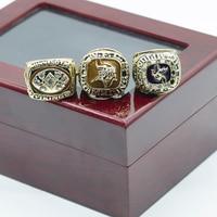 Replica Championship Rings 1973 1974 1976 Minnesota Vikings National Football Championship Ring Set