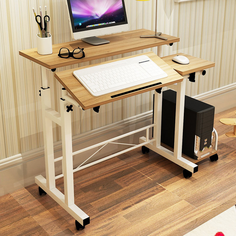 Fashion Mobile Lifting Notebook Desktop Computer Desk Folded Adjustable Laptop Table Student Learning Desk Office Home Furniture mastering mobile learning