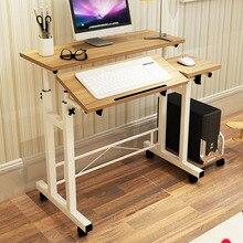 Fashion Mobile Lifting Notebook Desktop Computer Desk Folded Adjustable Laptop Table Student Learning Desk Office Home Furniture