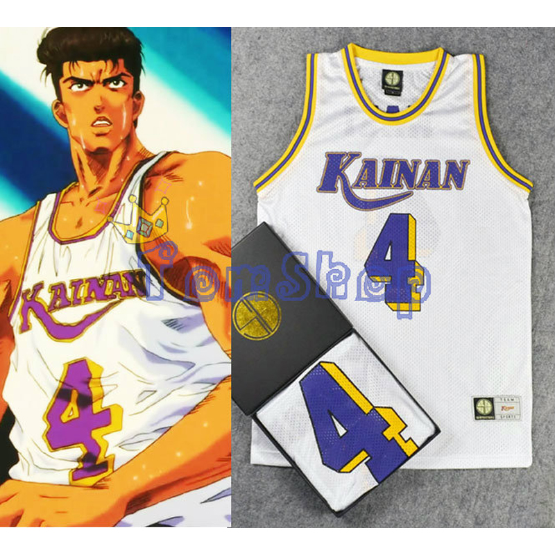 SLAM DUNK Kainan School Captain No. 4 SHINICHI MAKI Cosplay Basketball Jersey Tops Shirts Sportswear Team Uniform Free Shipping