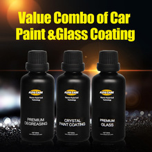 Coating Pro Paint 9H Coat Liquid Glass Ceramic Crystal Car Paint Scratch Repair Hydrophobic Glass Coating With Degreasing Agent