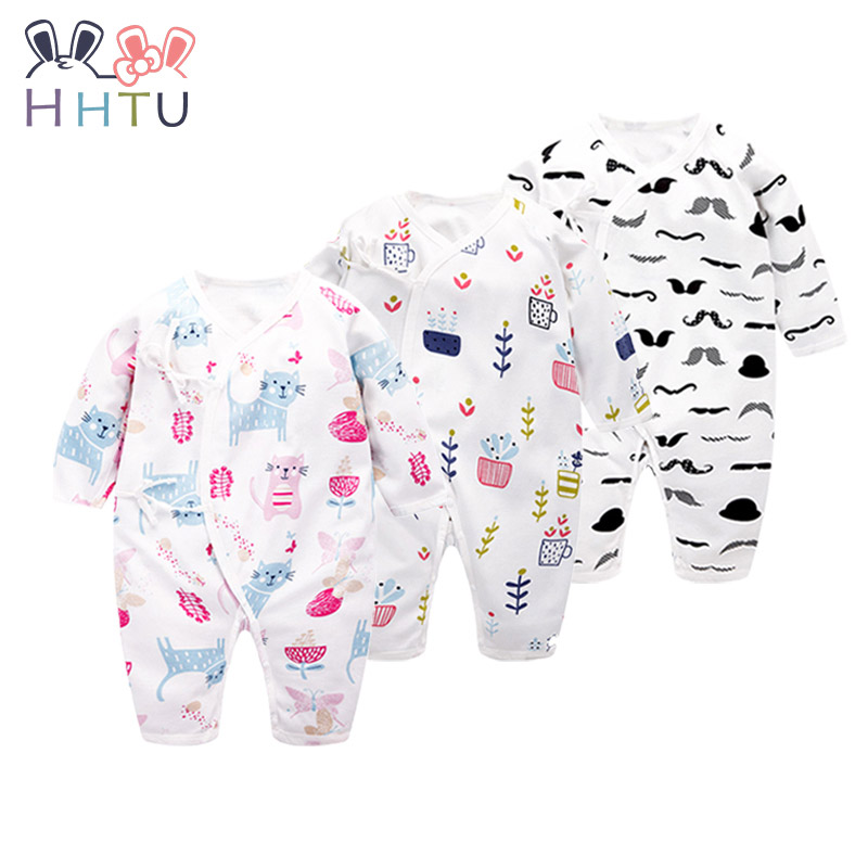 HHTU 2017 New Baby Rompers Cotton Long Sleeve Baby Clothing Overalls for Newborn Baby Clothes Boy Girl Romper Jumpsuit
