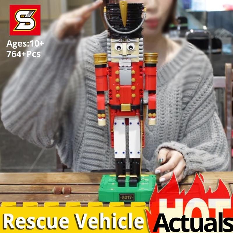 Nowy SY 7046 ww2 przyjaciółmi dziadek do orzechów drewna personelu żołnierzy kompatybilny Legoinglys 4002017 Diy klocki zabawki prezent na Boże Narodzenie w Klocki od Zabawki i hobby na  Grupa 1
