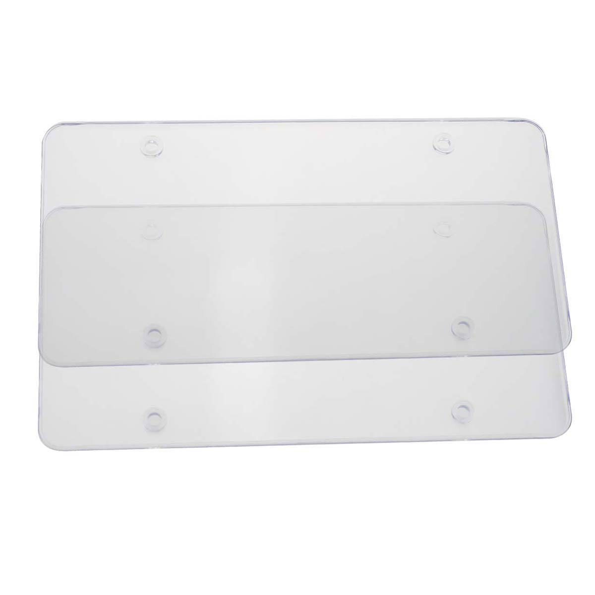 Reliable 2pcs License Plate Tag Frame Covers Bubble Shields Protector For Car Truck (clear)