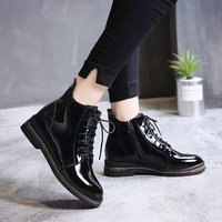 2018 new Martins boots female British wind students Korean boots motorcycle short boots flat bottomed comfortable women's boots