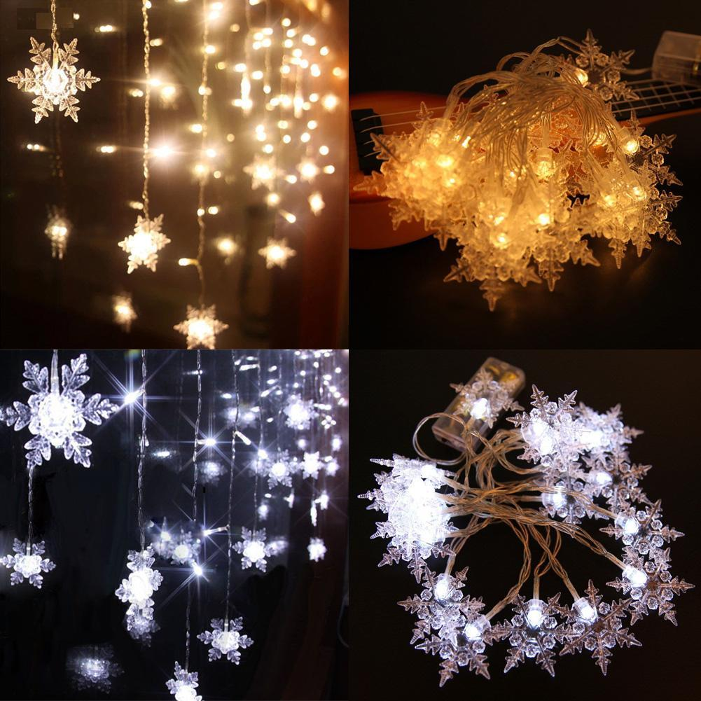 2m 20 Led Christmas Snow Fairy Holiday String Lights