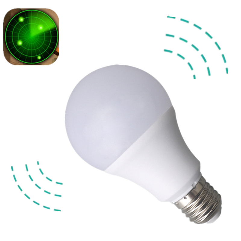 LED Radar Sensor Bulb E27 12W 220V Smart LED Light Motion Sensor Lamp Led Auto Detection Lampada E27 Home Lighting Bombillas smart bulb e27 7w led bulb energy saving lamp color changeable smart bulb led lighting for iphone android home bedroom lighitng