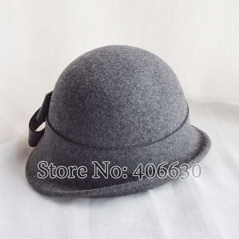 ... Winter Wool Felt Bucket Hats For Women Fedora Hat Female Chapeu  Feminino Free Shipping SWDW002 ... 3efe264c68d