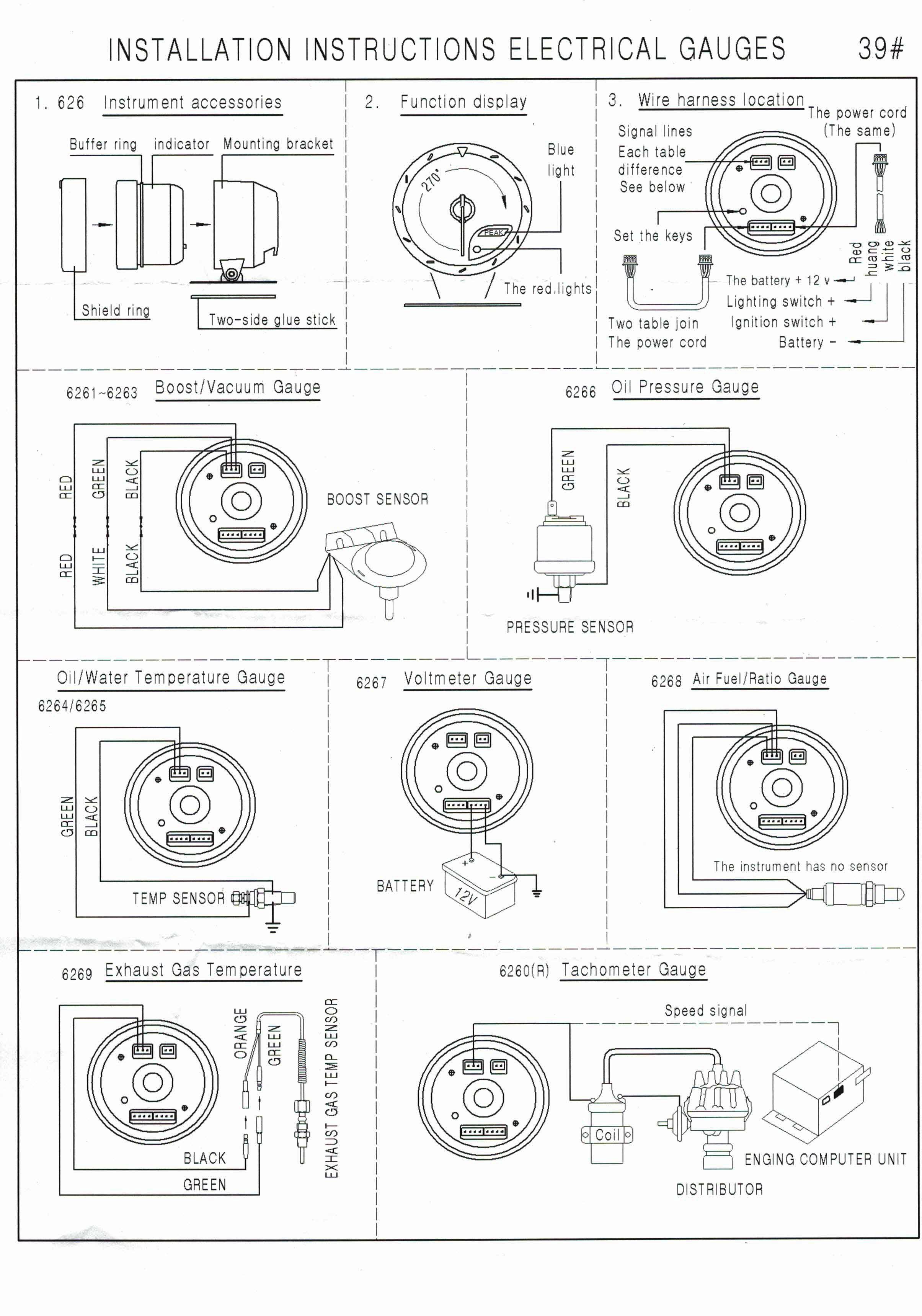 Dynoracing 60MM Вольтметр Температура вады - Аўтазапчасткі - Фота 6