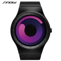 SINOBI New Fashion Sport Mens Wrist Watches Top Luxury Brand Stainless Steel Mesh Strap Geneva Quartz Wristwatch 2016 Clock Male
