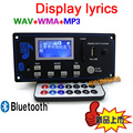 12V Lyric Show LCD Display Bluetooth MP3 Decoding Board Module SD/MMC USB FM Remote Folder Shift Switch LRC WMA WAV Decoder Kit