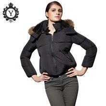 COUTUDI 2019 New Arrival Fashion Slim Women Winter Jacket Cotton Padded Warm Thicken Ladies Coat Fur Collar Parka Womens Jackets