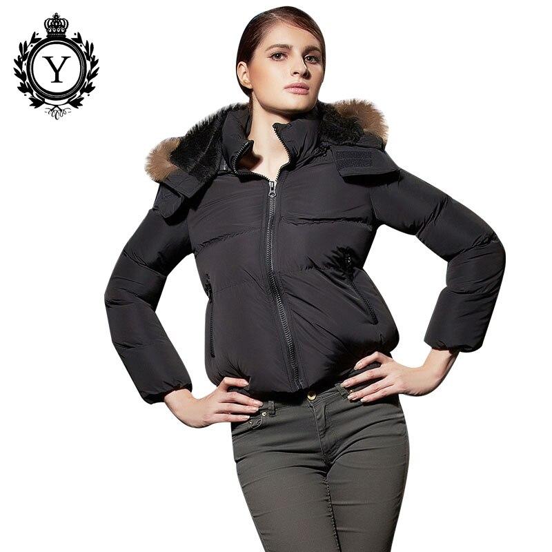 COUTUDI European Style Winter Down Jacket Women Solid Hoody Black Zipper Short Coat Hot Sale White Female Outwear Down Coat Lady