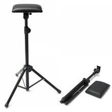 1pc Portable Tattoo Arm Rest Black Iron Stand Leather Adjustable Tattoo Arm Leg Rest Tripod Stand For Body Art 17x22x4cm цена