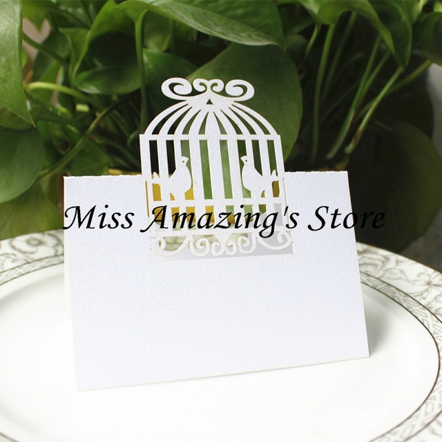 Aliexpress Com Buy 50pcs Bird Cage Table Place Setting Name Number