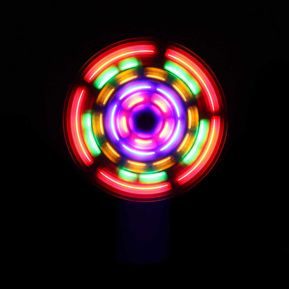 Lustige Kinder Spielzeug Pädagogisches Spielzeug Tragbare Kühle LED Glowing Fan Partei Spielzeug Geschenk Stress Relief Gadgets Anti-stress kinder spielzeug