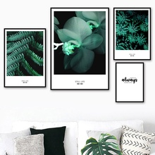 Fresh Butterfly Orchid Fern Leaves Wall Art Canvas Painting Nordic Posters And Prints Wall Pictures For Living Room Home Decor fern fanny fresh leaves