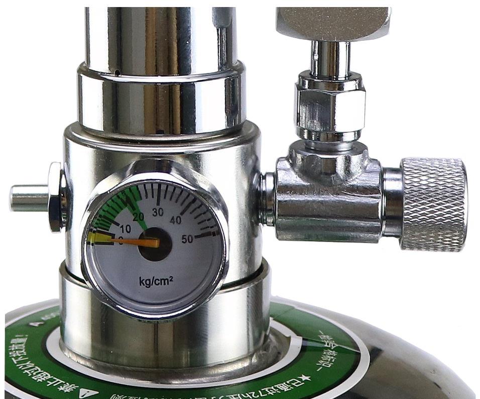 Kit de sistema de generador Wyin acuario DIY CO2 con ajuste de flujo de aire a presión planta de agua acuario valvedifuserla reacción - 3