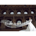 White Ivory Bridal veil 5M long Cathedral elegant aesthetic wedding veils With Comb