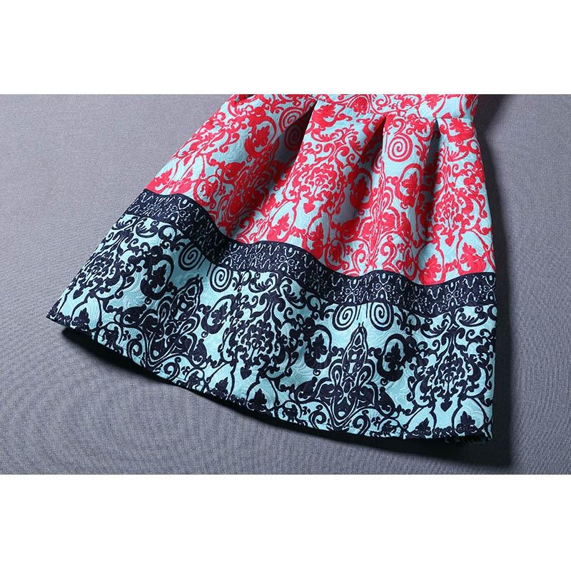 Nwsfh kadınlar moda dress retro yuvarlak boyun baskı kolsuz - Bayan Giyimi - Fotoğraf 3