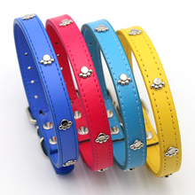 Pet Dog Cats Supplies PU Leather Paw Print  Necklace Accessory Supply Collar for Small Medium