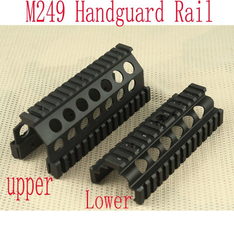 Алюминий ЧПУ M249 нижней и верхней прицела цевье рельсы Системы Охота аксессуары BK