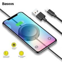 Беспроводное зарядное устройство Baseus Qi для iPhone X XS Max XR 8 samsung S10 быстрая Беспроводная зарядка USB кабель для iPhone 7 6 6s Plus