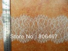Nouveau STYLE dentelle ivoire et crème cils garniture et dentelle française avec 13 CM de largeur MINIMUM de commande 5 pièces