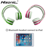 Hisonic Bluetooth Children Headphone Foldable Child Earphone Headset Wire Control Boy Girl Headset With Microphone Kid