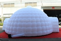 8m wonderful large inflatable Igloo dome tents LED lights for party events with shipping to Peru