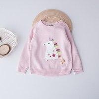 Everweekend Niñas Colores Caballito de Mar Suéter Bordado Lindo de La Borla de Bebé de Color Rosa y Azul Caída Tops