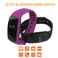 Id107 bluetooth smart watch heart rate monitor pedômetro pulseira de fitness rastreador câmera remota inteligente pulseira para android ios