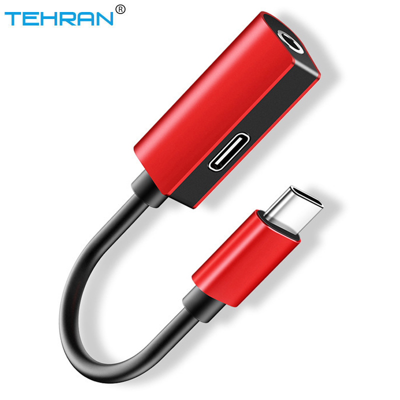 TEHRAN USB Typu C Wielofunkcyjny Adapter Słuchawkowy Do 3.5mm Aux Audio Adapter Do Kabla ładowarki Splitter Gniazdo Słuchawkowe